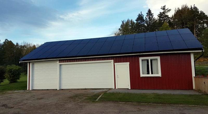 Solenergi genom solceller i Hudiksvall